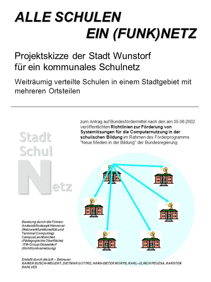ALLE SCHULEN EIN (FUNK)NETZ Projektskizze der Stadt Wunstorf