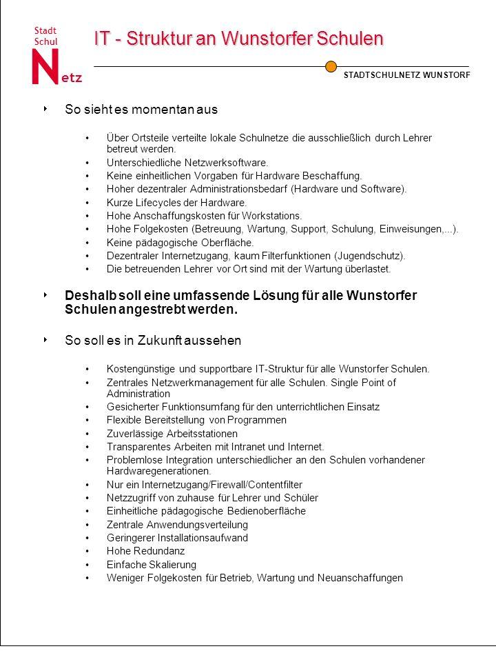 IT - Struktur an Wunstorfer Schulen