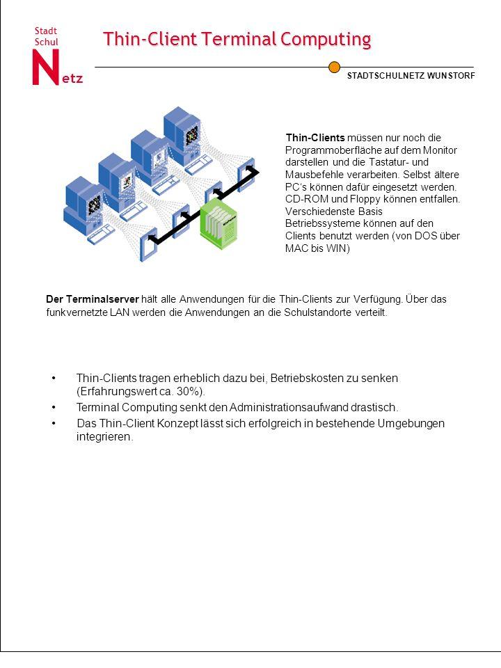 Thin-Client Terminal Computing