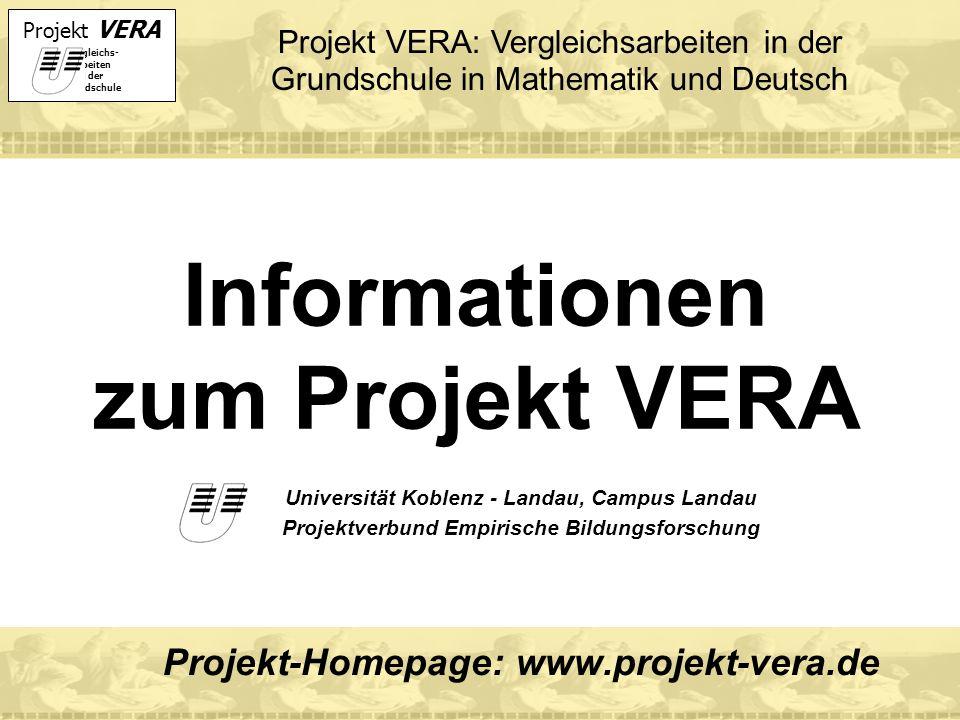 Informationen zum Projekt VERA