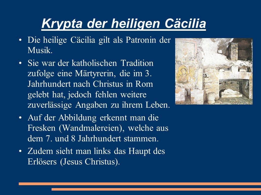 Krypta der heiligen Cäcilia