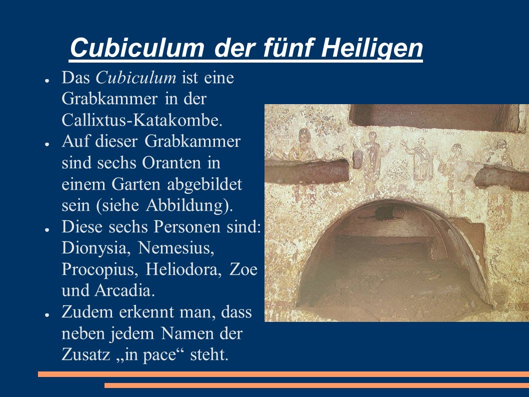 Cubiculum der fünf Heiligen