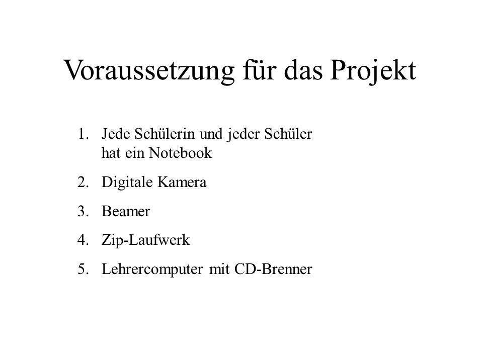 Voraussetzung für das Projekt