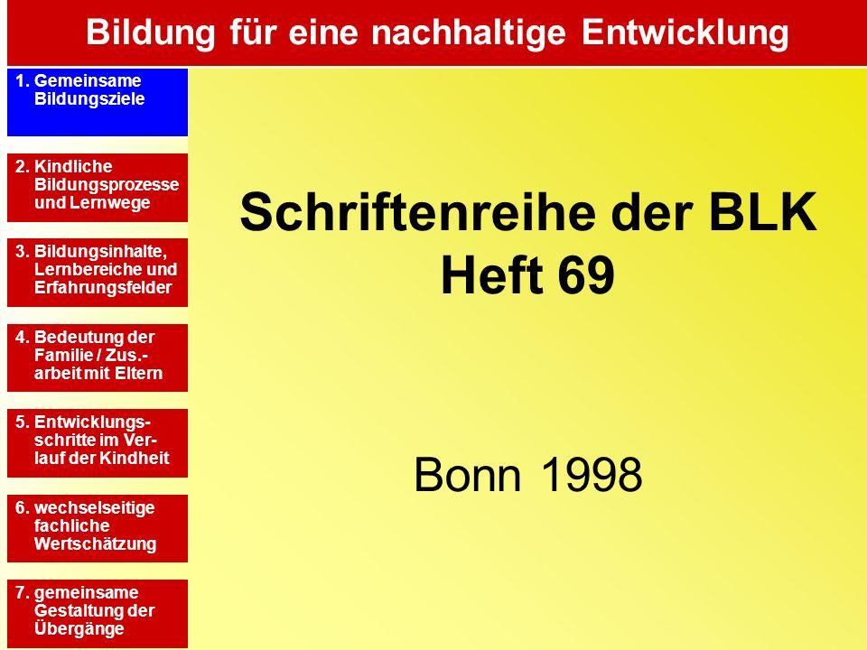 Schriftenreihe der BLK Heft 69 Bonn 1998