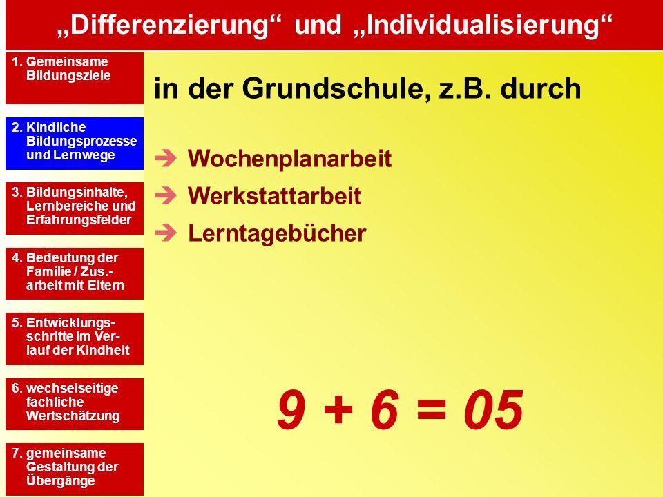 """""""Differenzierung und """"Individualisierung"""