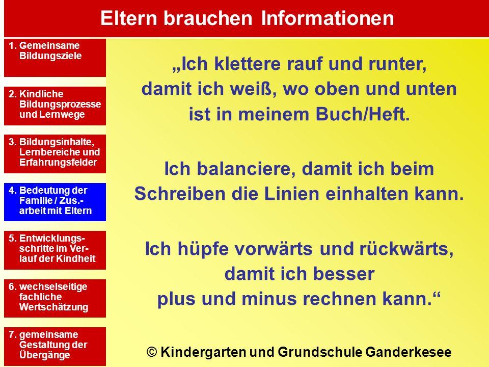 Eltern brauchen Informationen