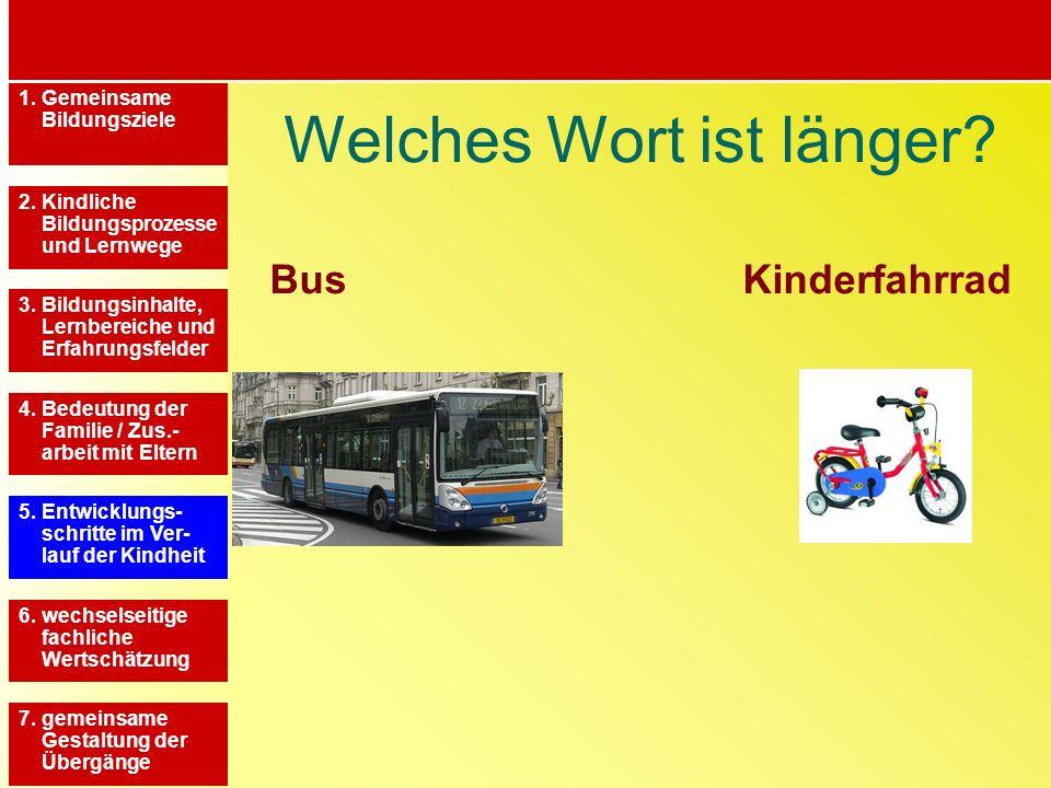 Welches Wort ist länger Bus Kinderfahrrad