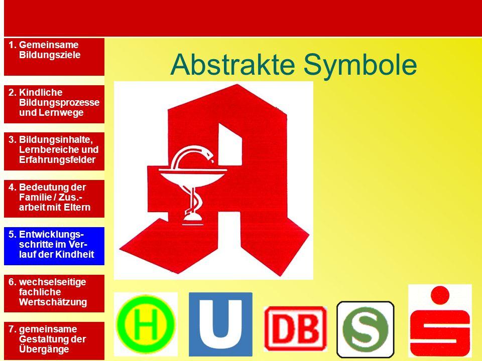 Abstrakte Symbole 1. Gemeinsame Bildungsziele
