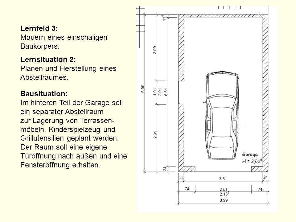 Lernfeld 3: Mauern eines einschaligen Baukörpers.