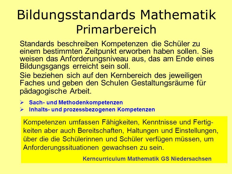 Bildungsstandards Mathematik Primarbereich