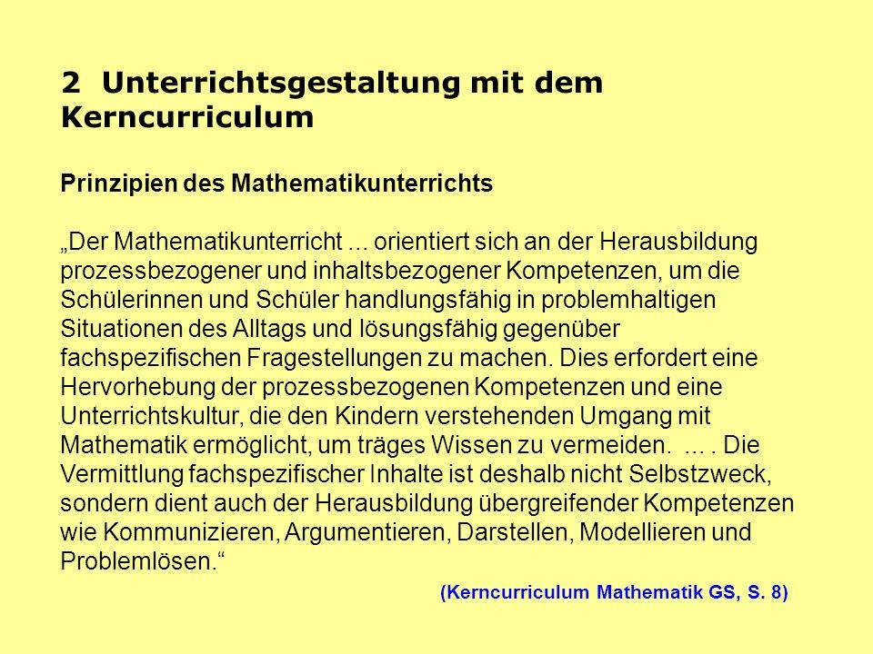 2 Unterrichtsgestaltung mit dem Kerncurriculum