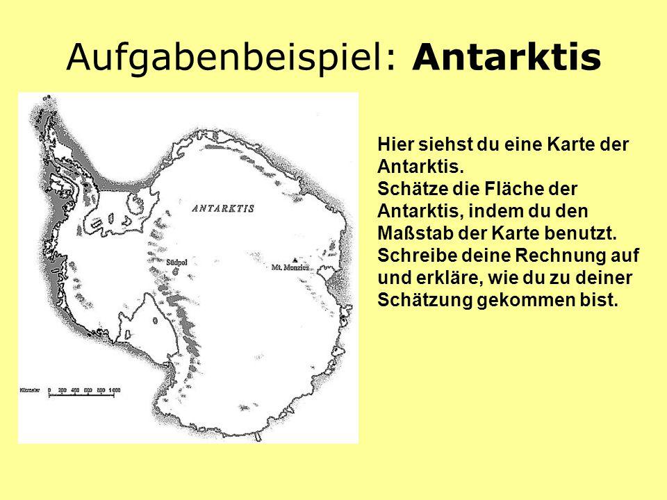 Aufgabenbeispiel: Antarktis