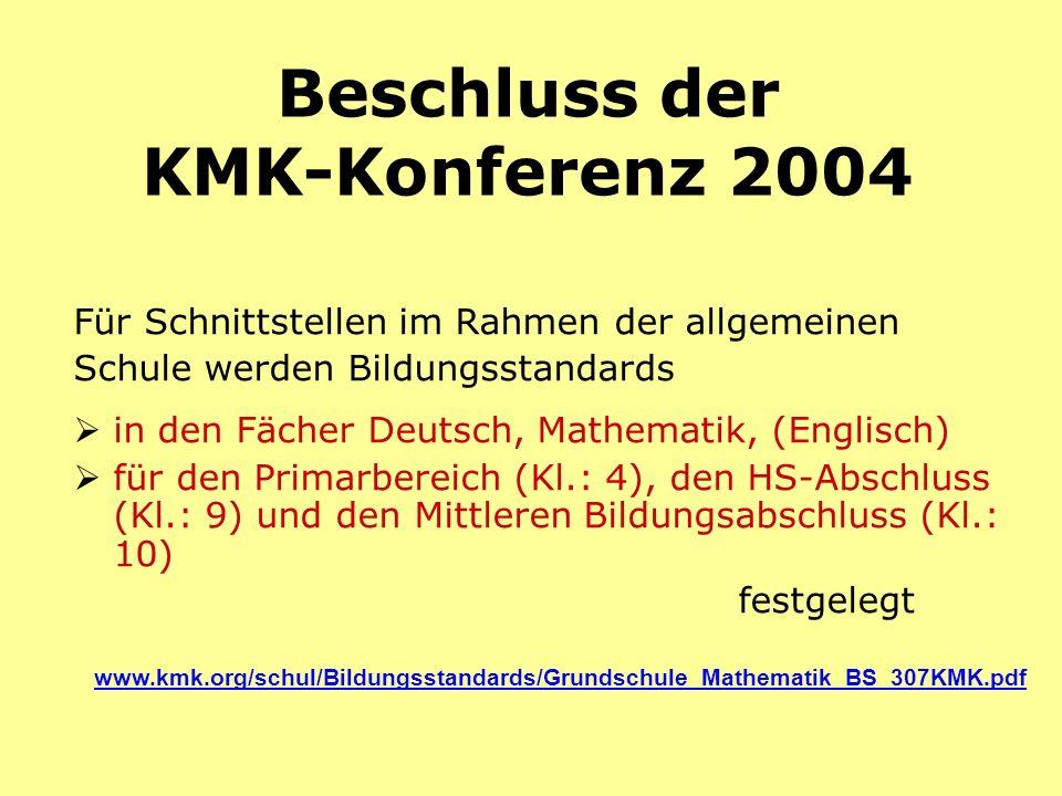 Beschluss der KMK-Konferenz 2004