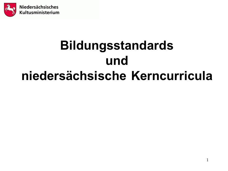 Bildungsstandards und niedersächsische Kerncurricula