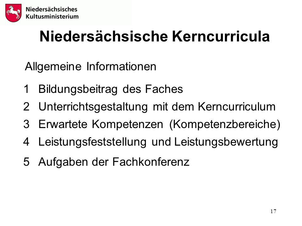 Niedersächsische Kerncurricula