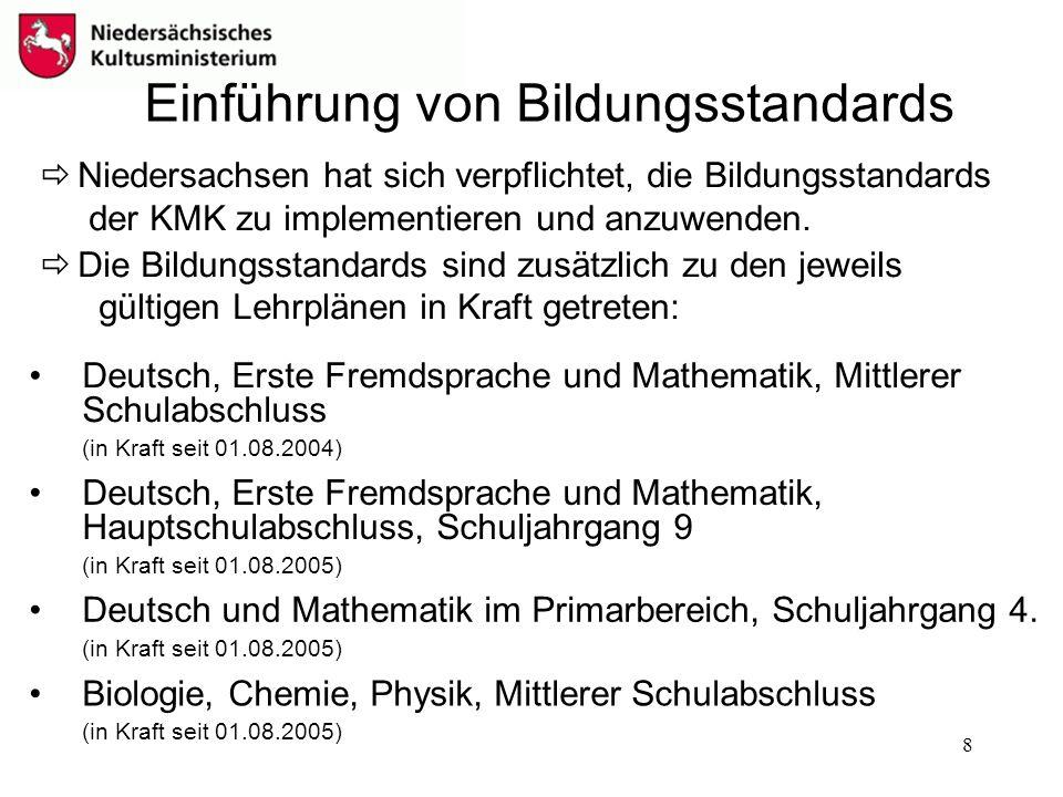 Einführung von Bildungsstandards