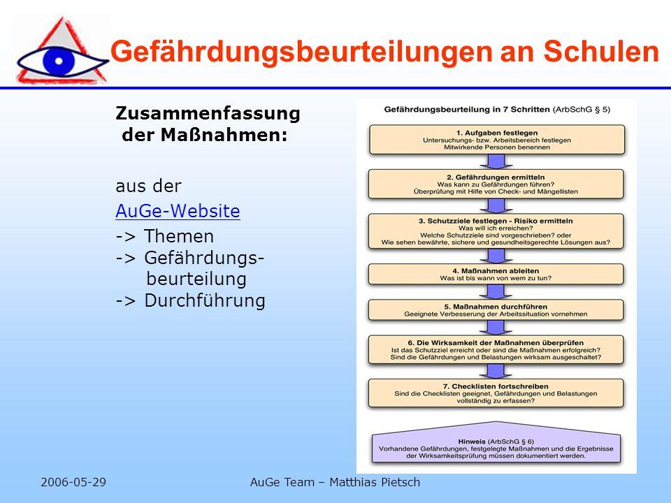 Gefährdungsbeurteilungen an Schulen