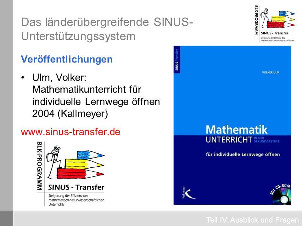 Das länderübergreifende SINUS-Unterstützungssystem