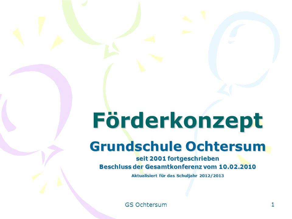 Förderkonzept Grundschule Ochtersum seit 2001 fortgeschrieben