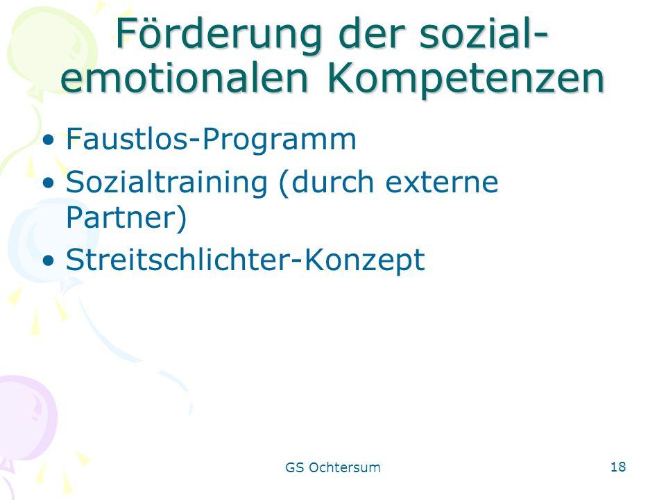 Förderung der sozial-emotionalen Kompetenzen