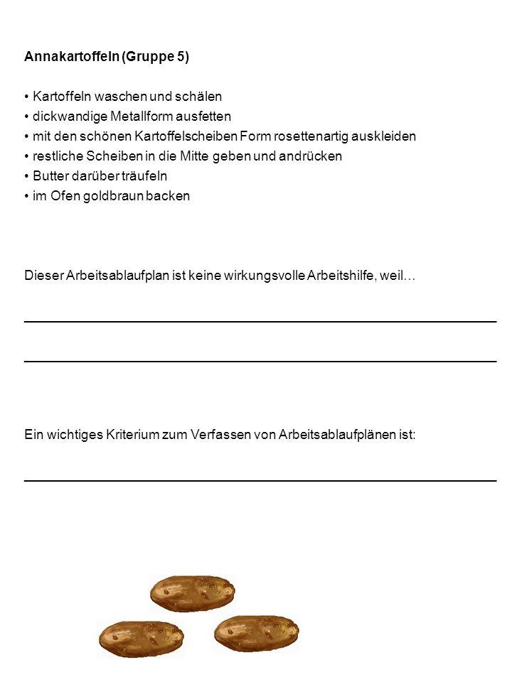 Annakartoffeln (Gruppe 5)