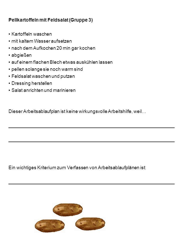 Pellkartoffeln mit Feldsalat (Gruppe 3)