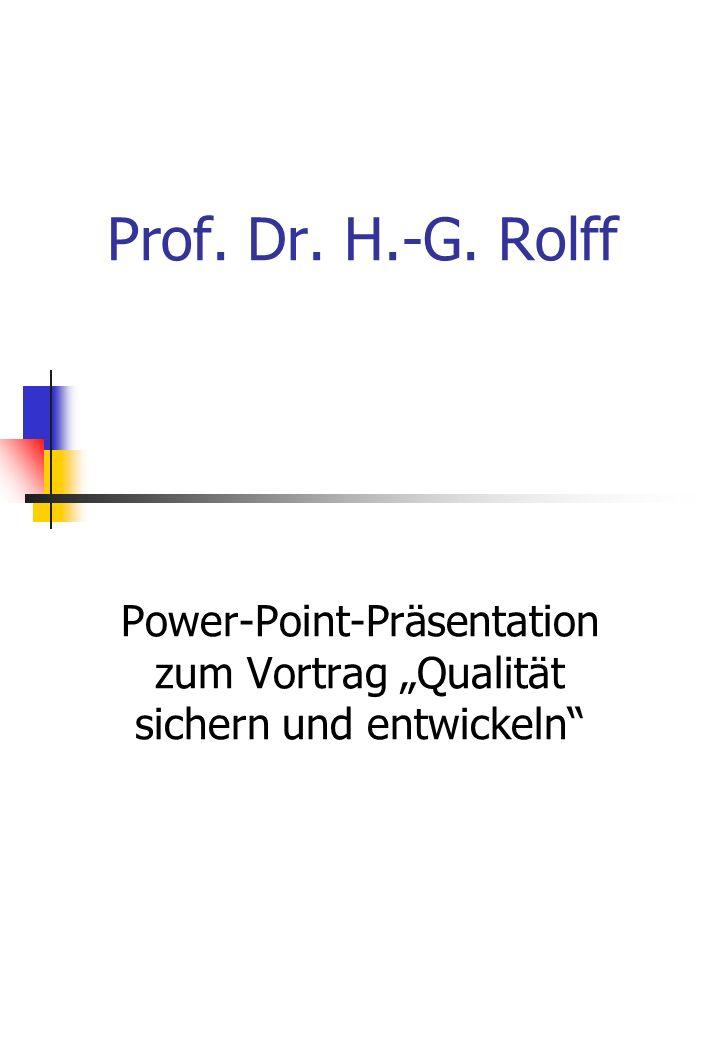 """Power-Point-Präsentation zum Vortrag """"Qualität sichern und entwickeln"""