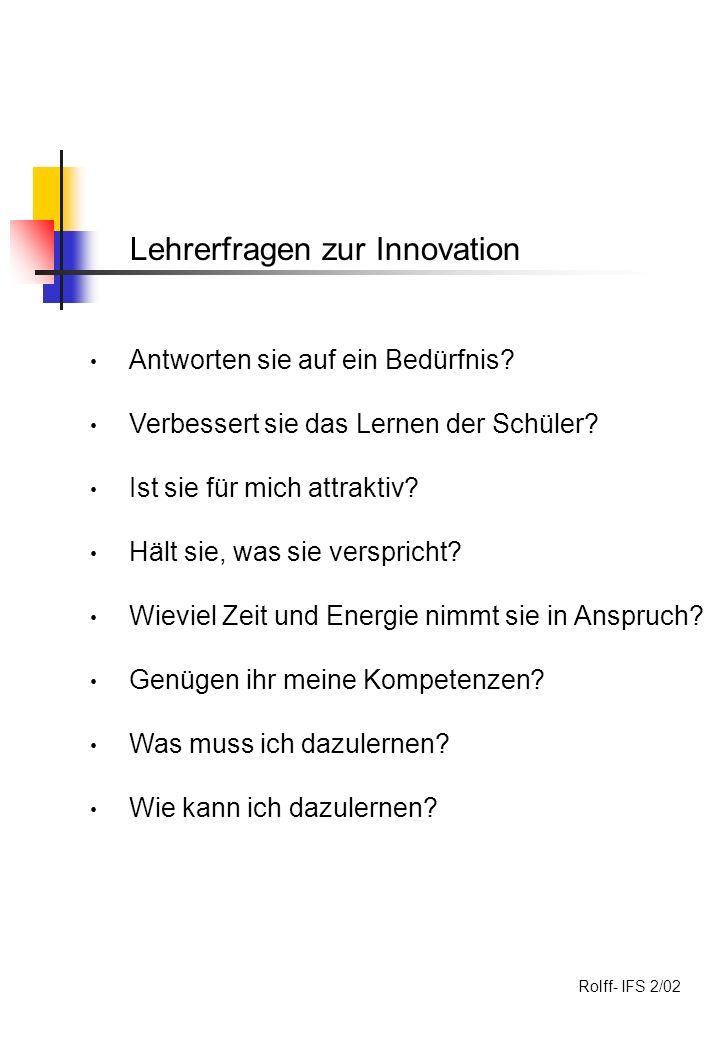 Lehrerfragen zur Innovation