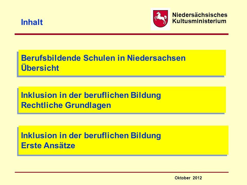 Berufsbildende Schulen in Niedersachsen Übersicht