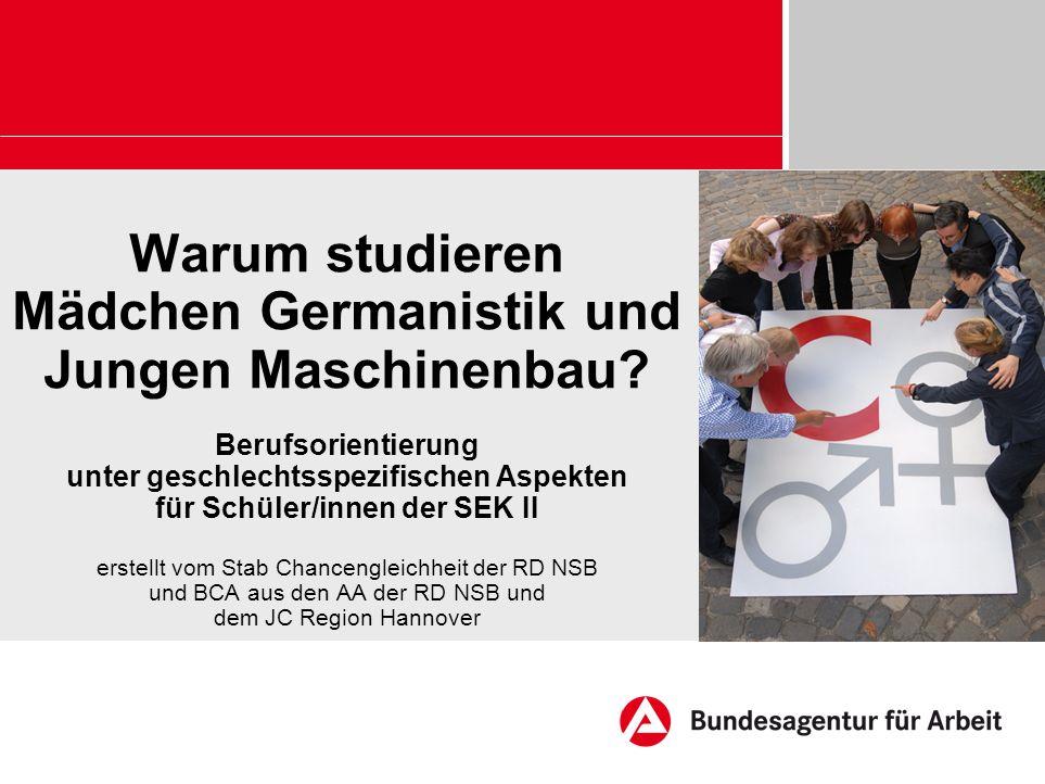 Warum studieren Mädchen Germanistik und Jungen Maschinenbau