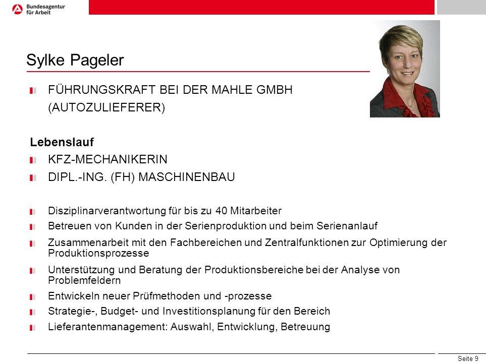 Sylke Pageler FÜHRUNGSKRAFT BEI DER MAHLE GMBH (AUTOZULIEFERER)