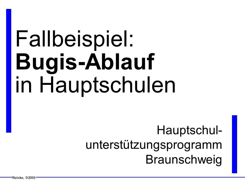 Fallbeispiel: Bugis-Ablauf in Hauptschulen