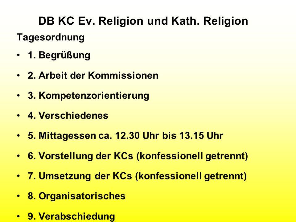 DB KC Ev. Religion und Kath. Religion