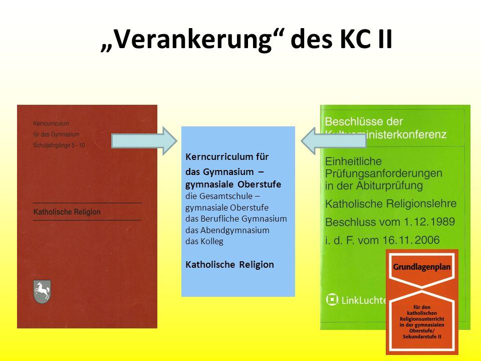 """""""Verankerung des KC II"""