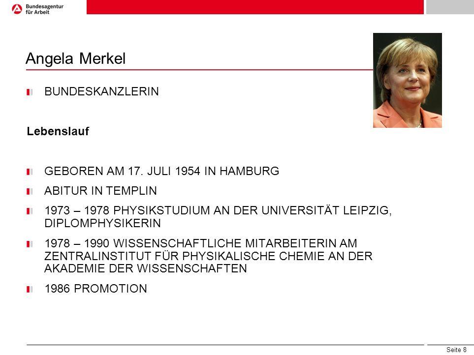 Angela Merkel BUNDESKANZLERIN Lebenslauf