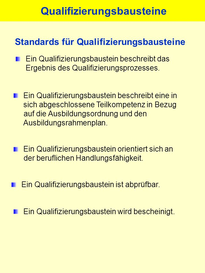 Qualifizierungsbausteine
