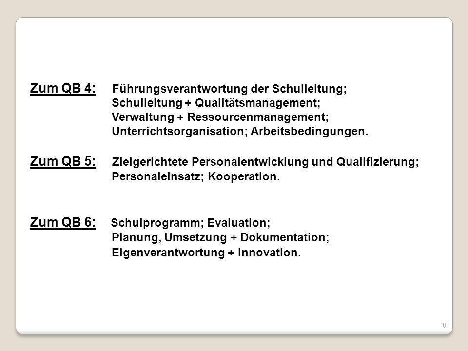 Zum QB 4: Führungsverantwortung der Schulleitung;