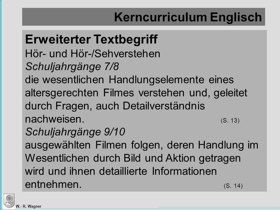 Kerncurriculum Englisch