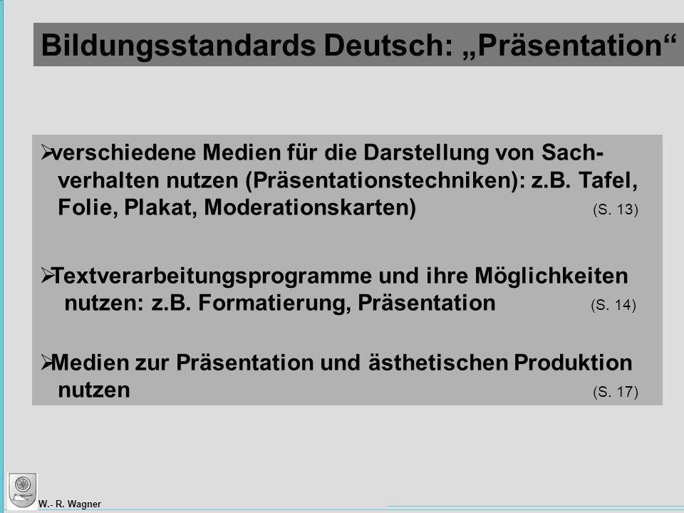 """Bildungsstandards Deutsch: """"Präsentation"""