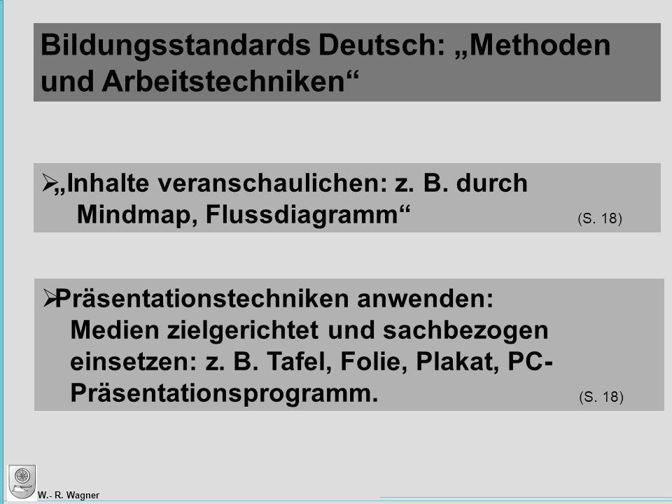 """Bildungsstandards Deutsch: """"Methoden und Arbeitstechniken"""