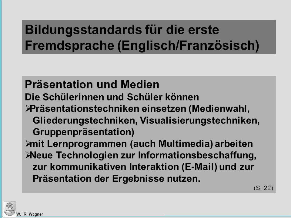Bildungsstandards für die erste Fremdsprache (Englisch/Französisch)