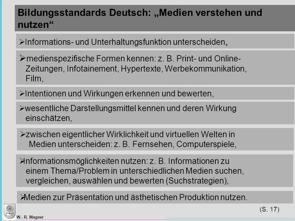 """Bildungsstandards Deutsch: """"Medien verstehen und nutzen"""