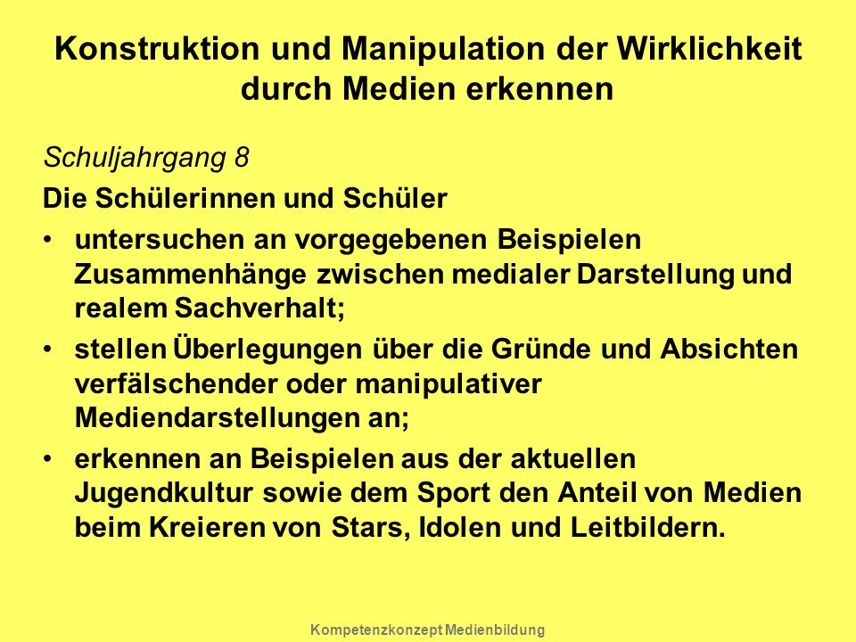 Konstruktion und Manipulation der Wirklichkeit durch Medien erkennen