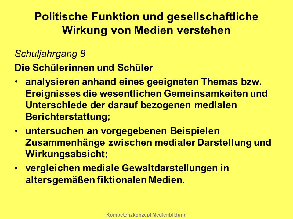 Politische Funktion und gesellschaftliche Wirkung von Medien verstehen