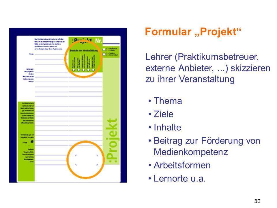 """Formular """"Projekt Lehrer (Praktikumsbetreuer, externe Anbieter, ...) skizzieren zu ihrer Veranstaltung."""