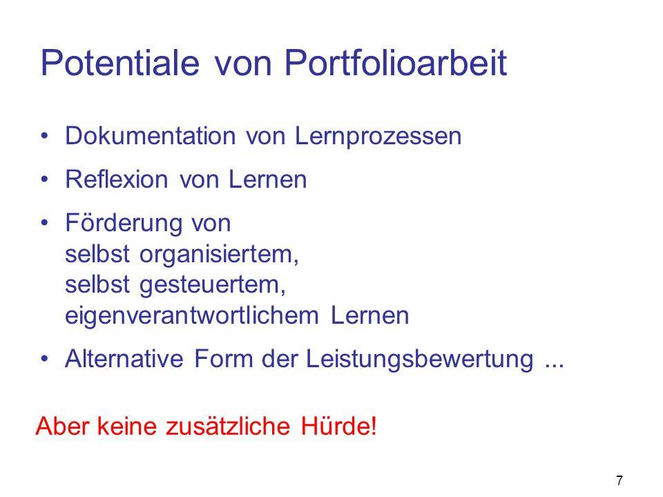 Potentiale von Portfolioarbeit