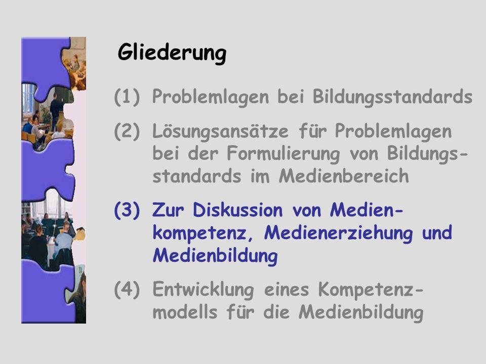 Gliederung Problemlagen bei Bildungsstandards