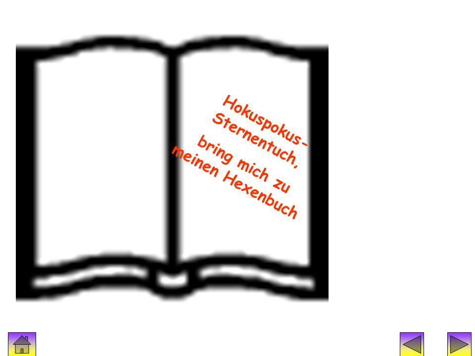 Hokuspokus- Sternentuch, bring mich zu meinen Hexenbuch
