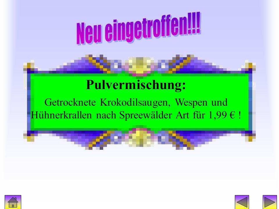 Werbung2 Pulvermischung: Neu eingetroffen!!!