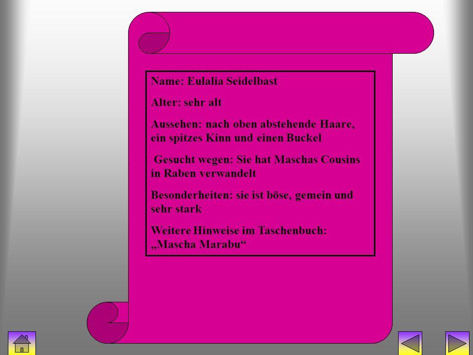 bücherhexe (eulalia) Name: Eulalia Seidelbast Alter: sehr alt